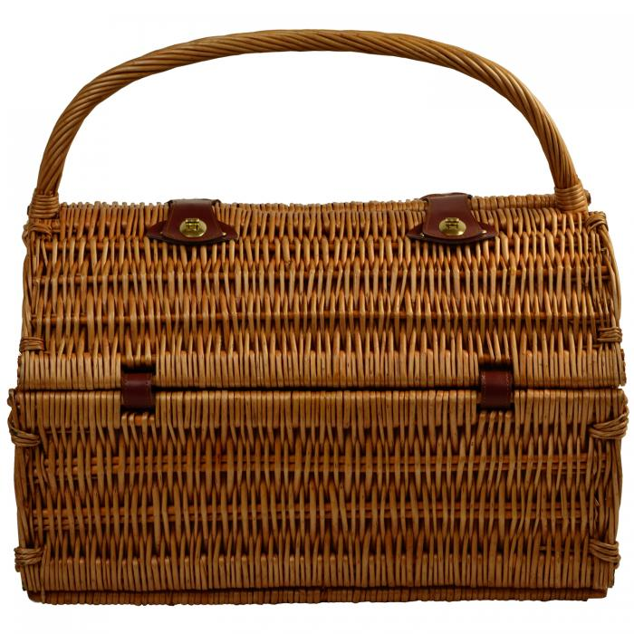 Picnic at Ascot Sussex Willow Picnic Basket with Service for 2 with Coffee Set - Santa Cruz