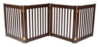 Small 4 Panel Free Standing EZ Pet Gate - Mahogany