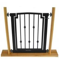 Emperor Rings Doorway Dog Gate - Black