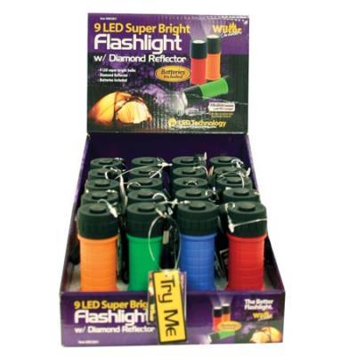Wilcor 1 Led Plastic Flashlight Assorted Colors