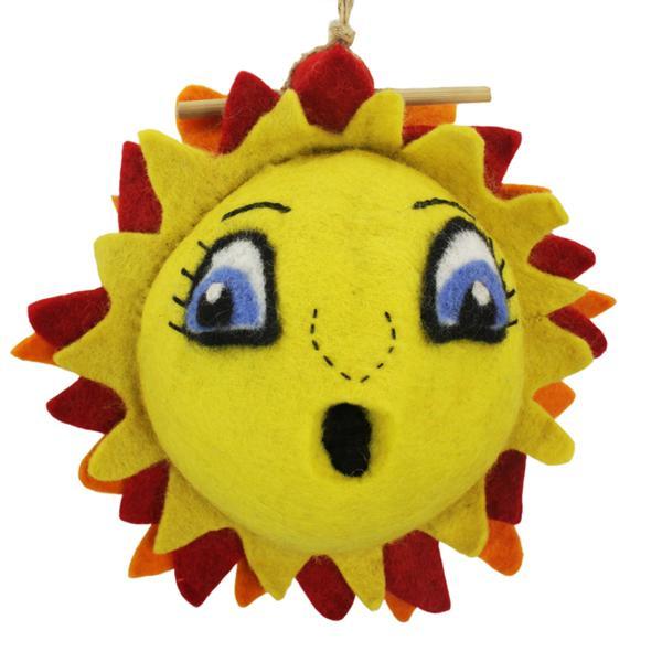 DZI Handmade Designs Sunshine Felt Birdhouse