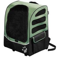 "Pet Gear I-GO Plus Traveler Carrier / Car Seat / Backpack Sage 13.5"" x 17"" x 21"""