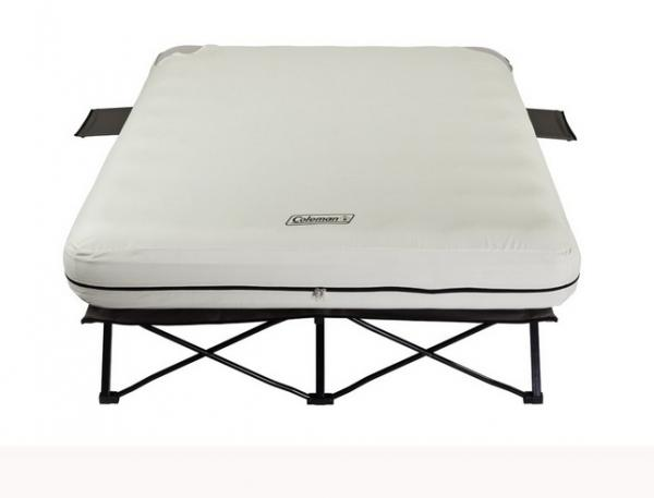 Coleman Queen Airbed Cot W/ Side Tables and 4D Battery Pack