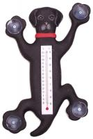 Songbird Essentials Climbing Black Lab Large Window Thermometer
