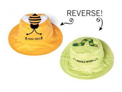 Luvali Convertibles Bee/Worm Reversible Kids' Hat, Medium