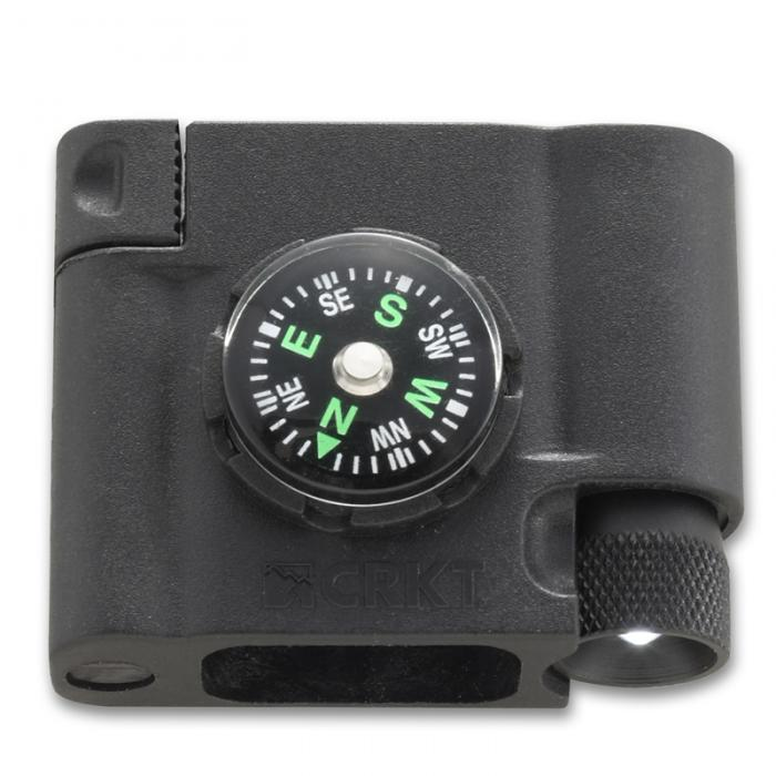 Survival Bracelet Accessory - Compass, LED, Firestarter