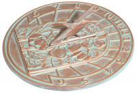 Hummingbird Sundial - Copper Verdi