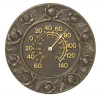 Whitehall Rose Thermometer - French Bronze