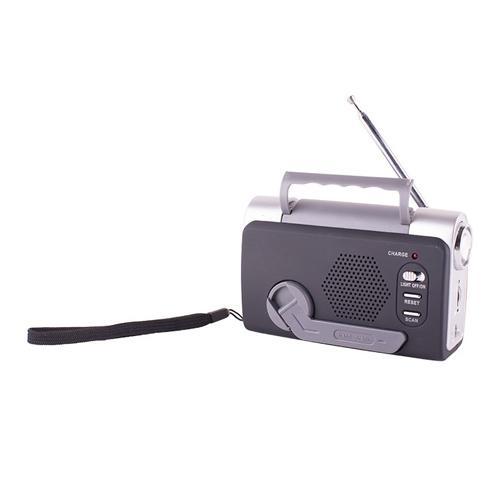 Stansport Multi-Function Emergency FM Weatherband With LED Light Dynamo Radio