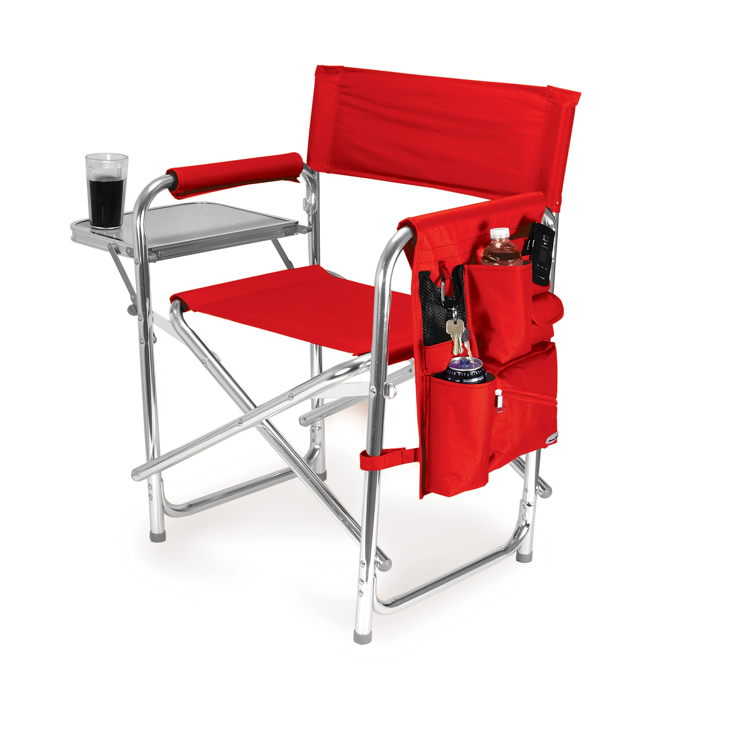 Picnic Time Red Portable Folding Sports Camping Chair