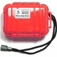 "Pelican Products Micro Case Solid, Red, 5.44"" x 4.06"" x 2.13"""