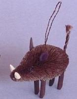 Brushart Javelina Wild Boar Ornament