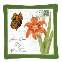 Alice's Cottage Orange Butterfly Single Mug Mat