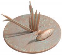 Loon Sundial - Copper Verdi