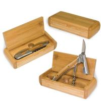 Picnic Time Elan Bamboo Boxed Stainless steel, Waiter-Style Corkscrew