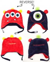 Luvali Convertibles Monsters Reversible Kid's Winter Hat, Small