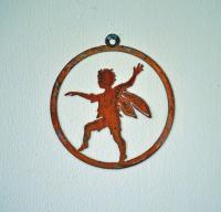 Elegant Garden Design Skipping Boy Window Ornament