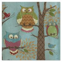 Tree Free Greetings Fantasy Owls Vertical Magnet