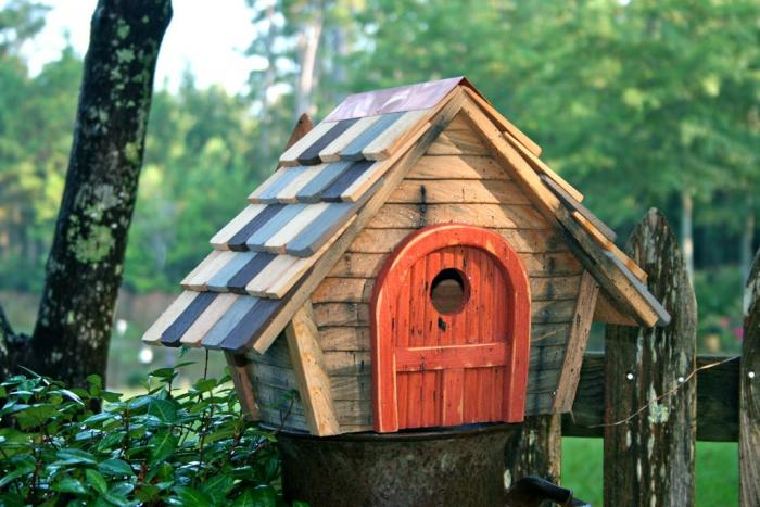 Heartwood Prairie Home Bird House, Natural