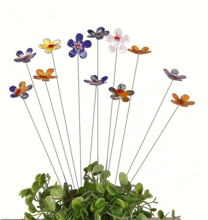 Easy Arrangers Small Enamel & Copper Flowers (set of 24)