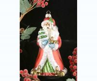 Cobane Studio Father Christmas w/Bunnies Ornament