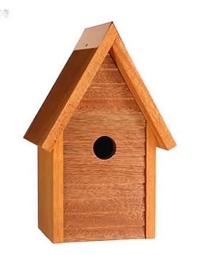 Heartwood Starter Home Birdhouse, Mahogany
