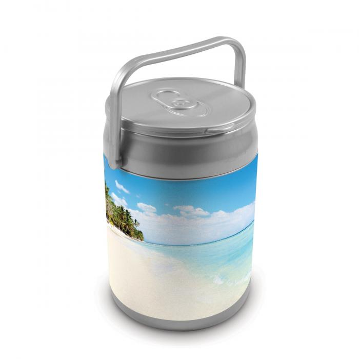 Picnic Time 9 Quart Capacity Can Cooler - Beach Scene Can