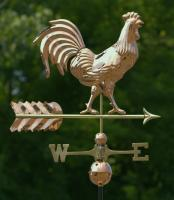 Good Directions Smithsonian Rooster Weathervane Polished Copper + FRT