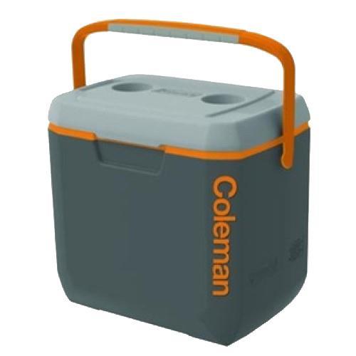 Coleman Cooler, 28 Quart Dark Grey/Orange/Light Grey, Overmold