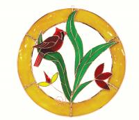 Gift Essentials Small Cardinal Circle Window Panel