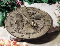 Dragonfly Sundial - French Bronze