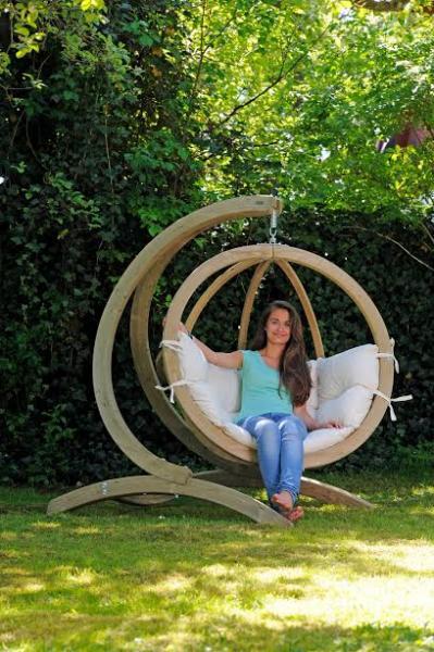 Globo Chair, Natural, Agora Outdoor Fabric
